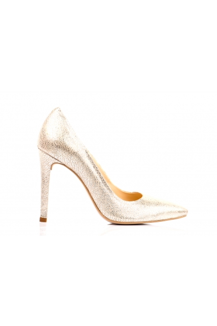 Pantofi aurii Roserry din piele naturala